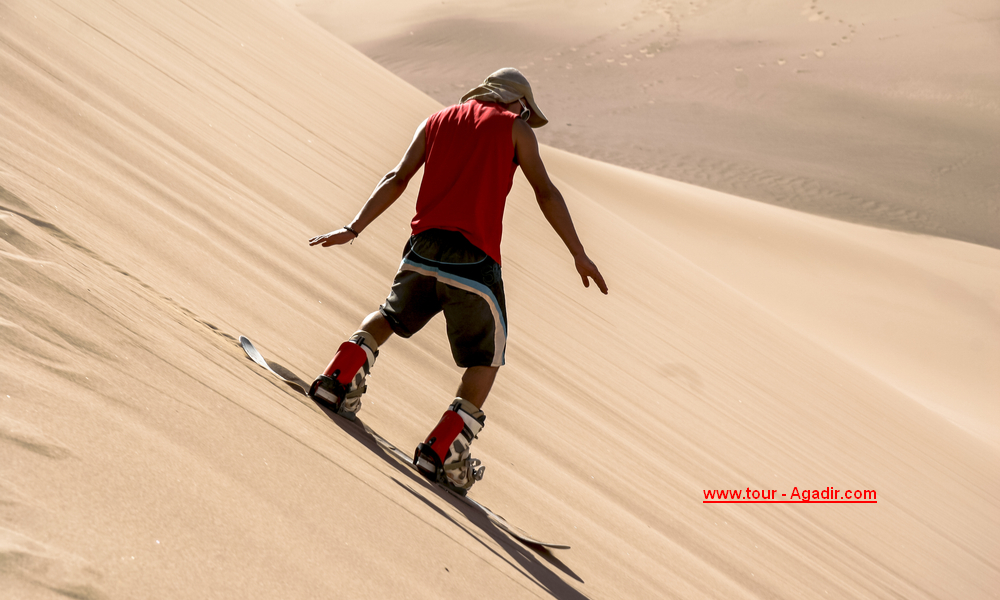 sand surfing in agadir